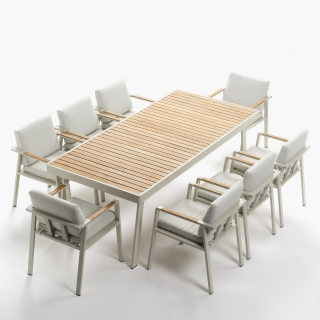 Comedor de aluminio mesa 8 sillas menorca las mejores for Sillas comedor carrefour