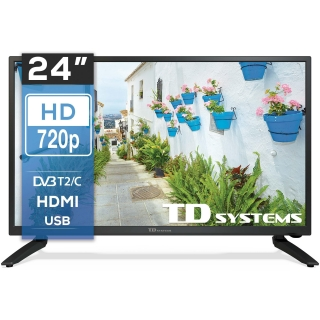 TV LED 60,96 cm (24'') TD SYSTEM K24DLH8H, HD
