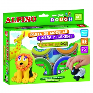 Alpino Magic Dough Animales  6x40gr