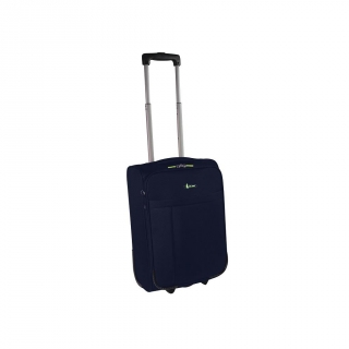 Trolley 50 cm Poliéster Low Cost con Bolsillo Frontal, Azul
