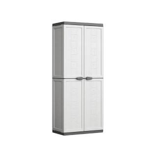 Armario escobero de resina jolly blanco gris las mejores - Mueble de resina para exterior ...