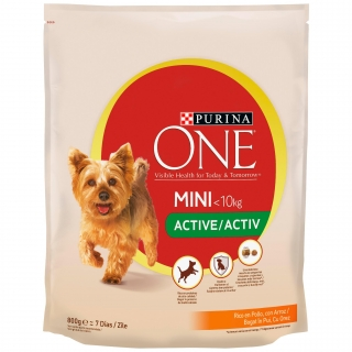 Comida para perro PURINA ONE® My Dog Is® Active pollo y arroz 800g
