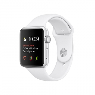 Apple Watch Series 1 Caja de 42 mm de Aluminio en Plata y Correa Deportiva Blanca