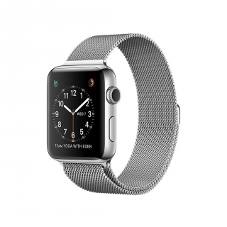 Apple Watch Series 2 Caja de 38 mm de Acero Inoxidable y Pulsera Milanese Loop