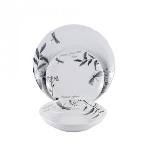 juego de vajilla de porcelana brunchfield lelia pz decorado