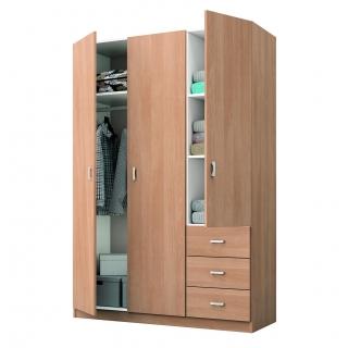 Armario 2 puertas y 2 cajones carrefour home milan cerezo for Puertas de armarios de cocina baratas