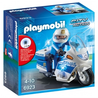 Playmobil - Policía con Moto y Luces Led