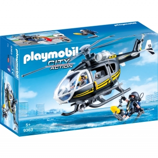 Playmobil City Action - Helicóptero de las Fuerzas Especiales