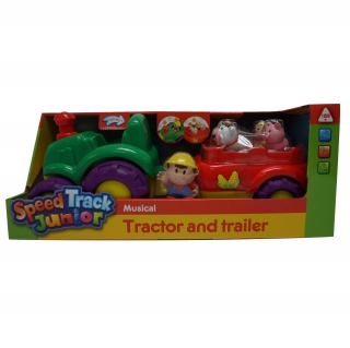 Speed Track Junior - Tractor con Tráiler Musical