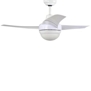 Ventilador de techo con luz y mando de metal 3 aspas concorde mod 360 107 cm blanco las - Ventiladores techo carrefour ...