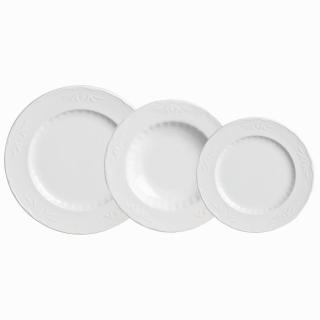 juego de vajilla de porcelana santa clara sevilla xcm blanco