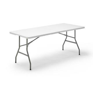 mesa plegable de hdpe y estructura de acero 180 x 75 x 74
