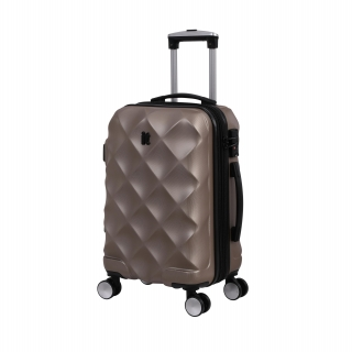 Maleta Trolley It Luggage Diamond 55 Cm, 8 Ruedas, Rígida ABS, Oro