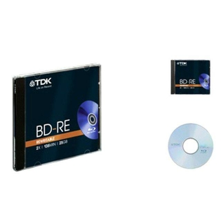 TDK BLU RAY REGRABABLES 25GB. CDs