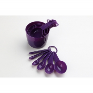 Set de 11 Cucharas para medir CARREFOUR HOME Specifique 19cm. - Morado
