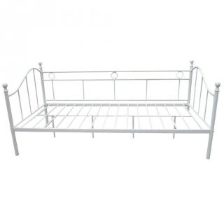 div n cama de forja 197x90x97cm blanco las mejores ofertas de carrefour. Black Bedroom Furniture Sets. Home Design Ideas