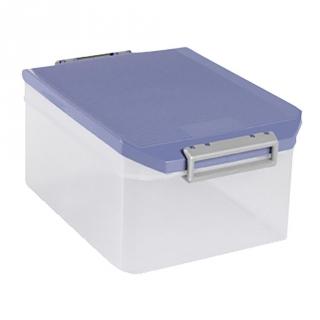 Caja con tapa de pl stico transl cido tatay 14 litros - Caja plastico con tapa ...