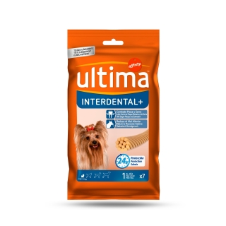 Snack dental para perro adulto toy Ultima Interdental 70 g.