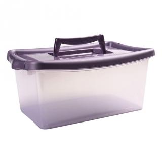Caja con tapa de pl stico basic carrefour home 10 litros transparente las mejores ofertas de - Cajoneras de plastico carrefour ...