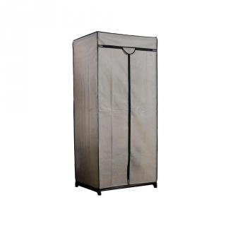 Armario metalico con funda de tela y cierre con cremallera for Armario zapatero de tela