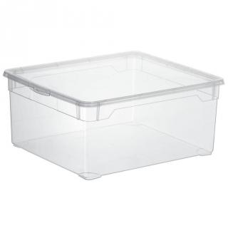 Caja con tapa de pl stico basic carrefour home 18 litros for Cajas de plastico transparente