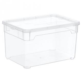Caja con tapa de pl stico basic carrefour home 5 litros - Caja plastico con tapa ...