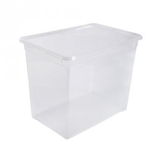 Caja con tapa de pl stico basic carrefour home 70 litros - Caja plastico con tapa ...