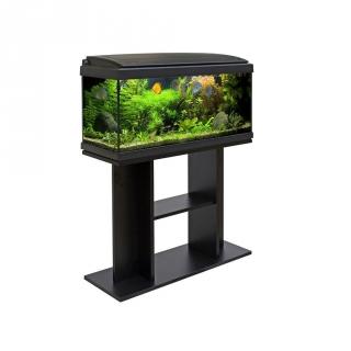 set acuario milo luxline con mueble 80x30 negro las