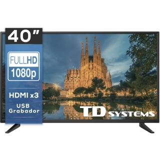 "TV LED 101,6 cm (40"") TD Systems 40DLM7F, Full HD"