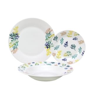 Vajillas 18 piezas arancha porcelana decorada las mejores ofertas de carrefour - Ofertas vajillas porcelana ...