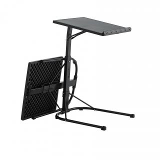 Mesa plegable ajustable acero y resina negro - Mesa plegable carrefour ...