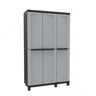 Armario de resina con 3 puertas las mejores ofertas de carrefour - Ikea armario escobero ...