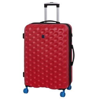 Trolley Abs 60Cm Expandible 8 Ruedas Bubble Rojo