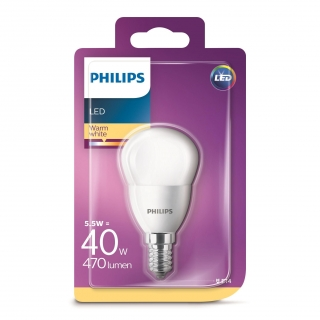 Bombilla Esférica Philips LED 40W E14 Mate