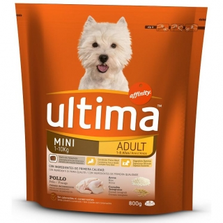 Alimento Ultima Dog Mini Adult 800 Gr