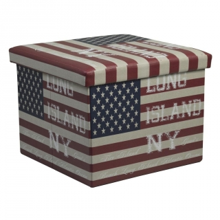 Puf de Polipiel Essencial Plegable 38x38x37cm. - Decorado USA NY