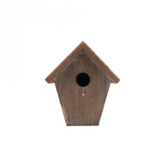 Casita de pajaros casita para pajaros de madera pintada for Casita jardin carrefour