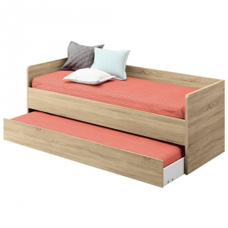 Cama-Nido  de Melamina CARREFOUR HOME Everest 202x97x80cm. - Roble