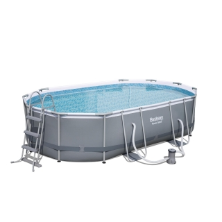 Piscina power steel pro las mejores ofertas de carrefour for Piscinas jardin carrefour