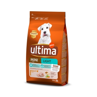 Pienso de pollo para perro adulto Mini Light Ultima 1,5 Kg.