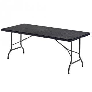 Mesa plegable de hdpe 180x75x74cm negro las mejores for Mesa plegable bricomart