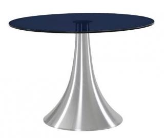 Mesa cocina comedor aluminio y cristal templado negro for Mesa cristal carrefour