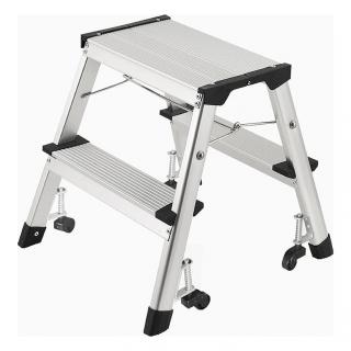 Escalera de aluminio 4 pelda os carrefour las mejores for Taburete plegable carrefour