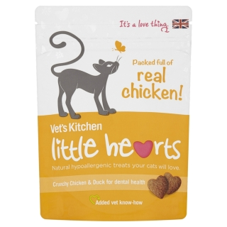 Vet`s Kitchen - Snacks Little Hearts De Pollo Para Gatos