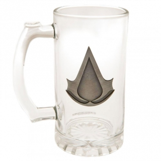 Assassins Creed - Jarra De Cristal Para Cerveza (talla Única) (transparente)