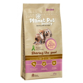 Comida Para Perros Planet Pet Mini Adult Cordero Y Arroz - 2kg