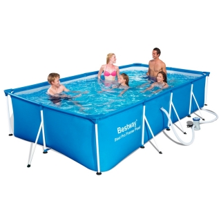 Piscina Desmontable Tubular Infantil Bestway Family Splash Frame Pool 400x211x81 Cm