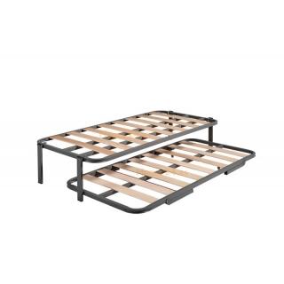 Cama nido con 2 somieres estructura reforzada doble barra superior 4 patas 80x180 con ofertas - Somier cama nido ...