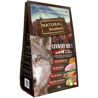 Natural Greatness Pienso Seco Para Perros Receta Natural Woodland Country Diet. Super Premium. Todas Las Razas Y Edades. 2 Kg