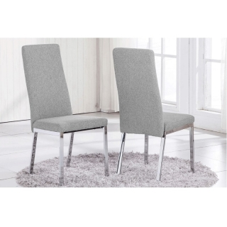 Silla de comedor trieste elegance color gris claro con for Sillas color gris